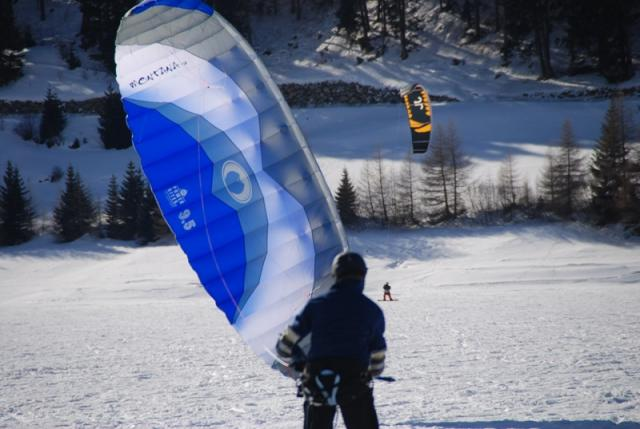 Kiting on the Reschensee